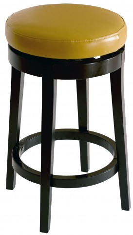 "Mbs-450 30"" Wasabi Bonded Leather Backless Swivel Barstool"