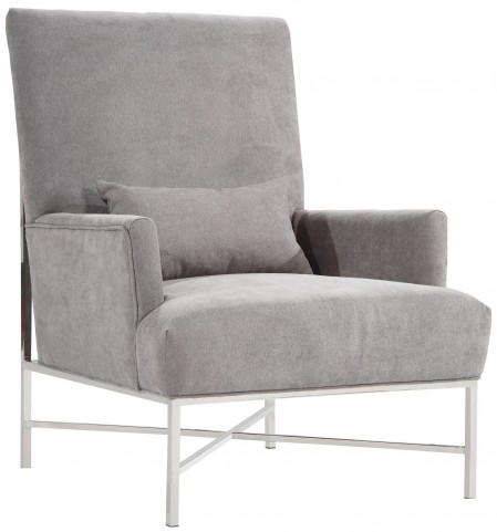 York Gray Chenille Accent Chair