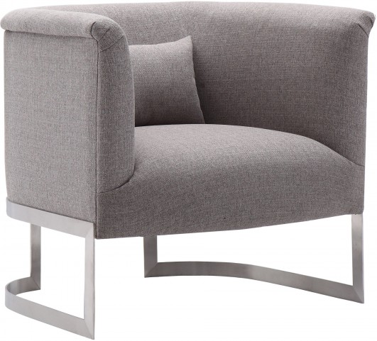 Elite Grey Fabric Accent Chair