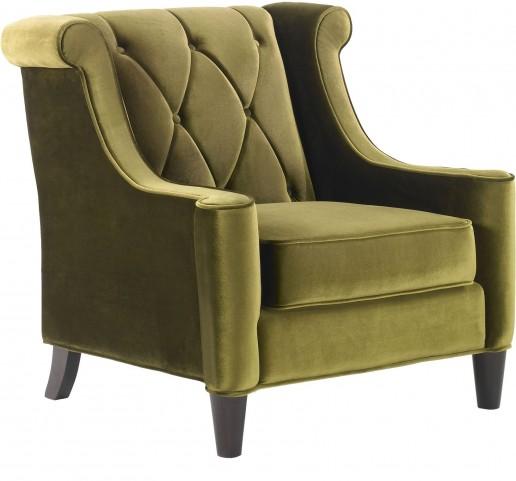 Barrister Green Velvet Chair