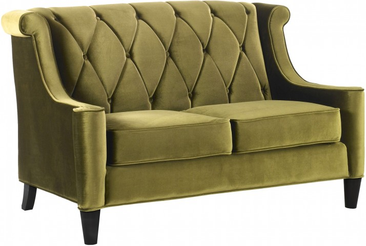 Barrister Green Velvet Loveseat