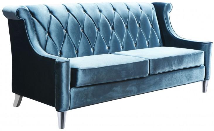 Barrister Blue Velvet Sofa