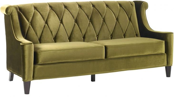 Barrister Green Velvet Sofa