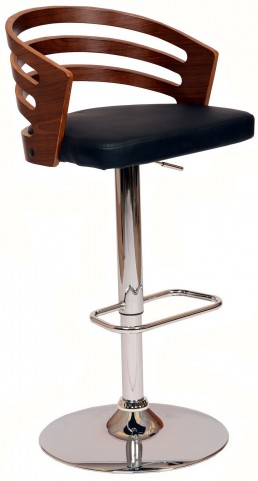 Adele Black Swivel Barstool
