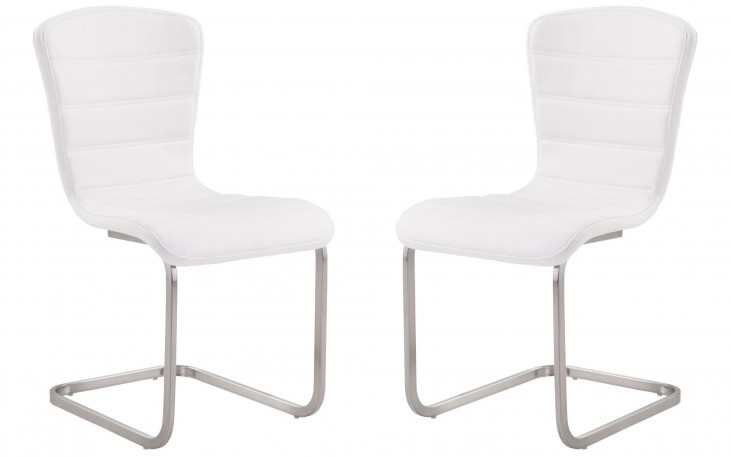 Cameo White Side Chair Set of 2