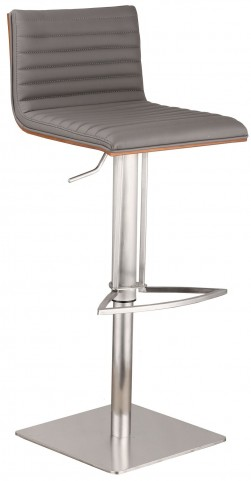 Cafe Gray Adjustable Barstool
