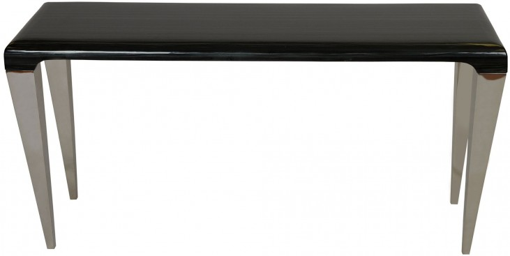 Chow Black Marble Console Table
