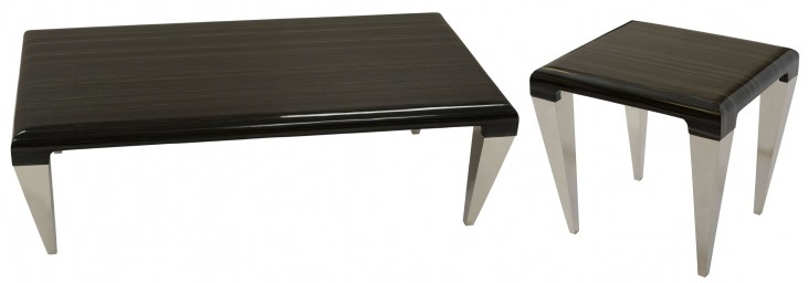 Chow Black Marble Occasional Table Set