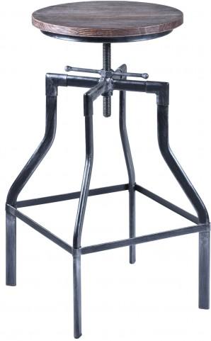 Concord Grey Adjustable Industrial Barstool
