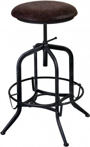 Elena Grey Adjustable Barstool