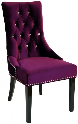 Carlyle Purple Side Chair