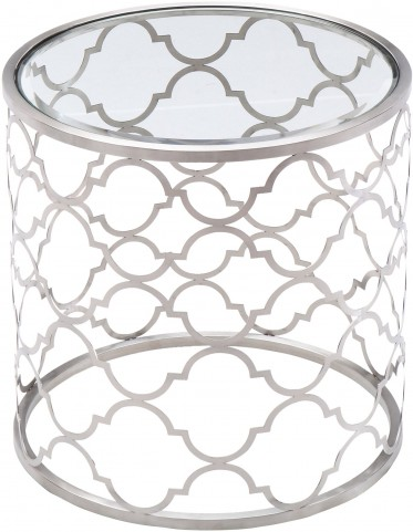Florence Brushed Silver End Table