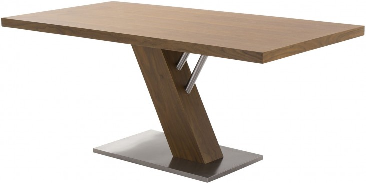 Fusion Contemporary Stainless Steel Dining Table