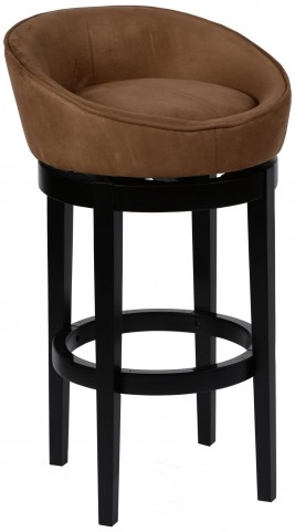 "Igloo 26"" Brown Microfiber Swivel Barstool"