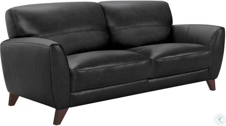 Jedd Black Leather Sofa