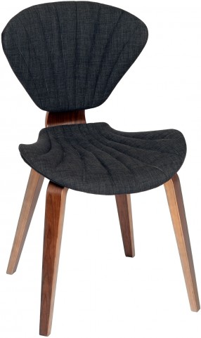 Lisa Modern Charcoal Fabric Chair
