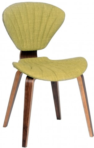 Lisa Modern Green Fabric Chair