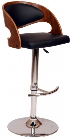 Malibu Black Swivel Barstool