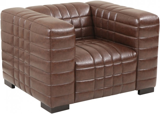 Maxton Brown Leather Chair