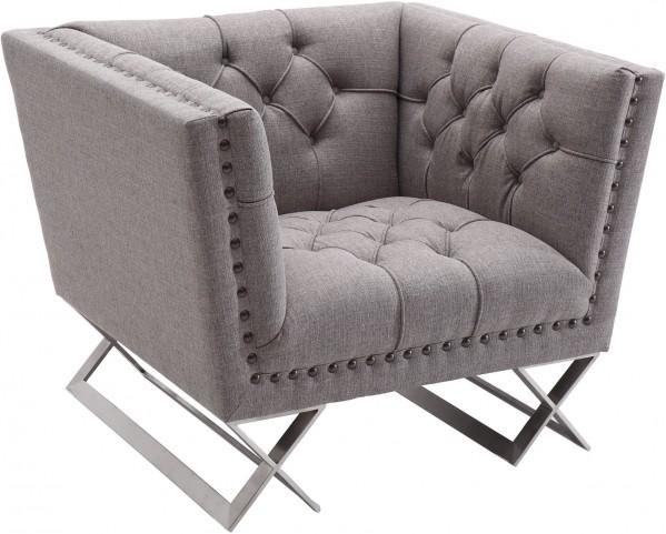 Odyssey Grey Tweed Upholstery Chair