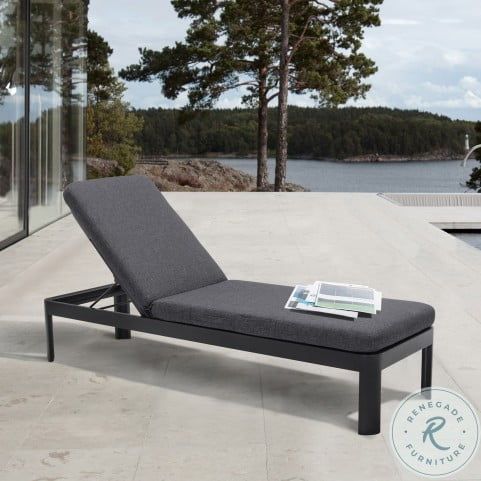 Portals Black Outdoor Chaise Lounger