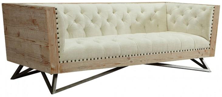 Regis Cream Pine Frame Sofa