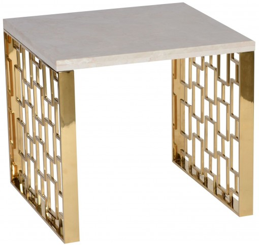 Skyline White Top End Table