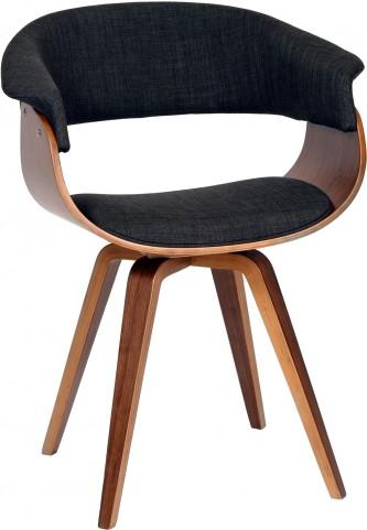Summer Charcoal Fabric Modern Chair