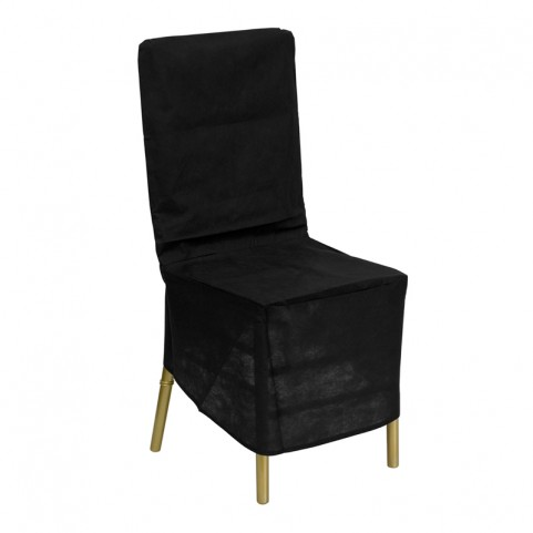 Black Fabric Chiavari Chair Storage Cover