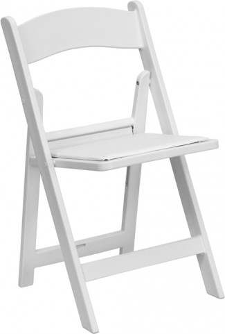 Hercules 1000lb. Capacity White Resin Folding Chair with White Seat