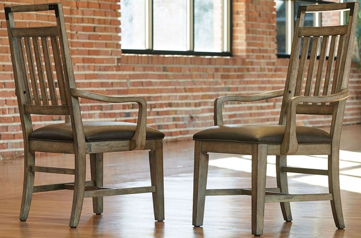 Metalworks Factory Chic Splat Back Arm Chair Set of 2