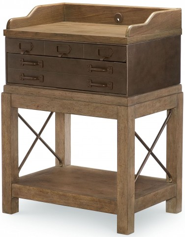 Metalworks Factory Chic 2 Drawers Bedside Chest