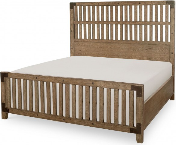 Metalworks Factory Chic Cal. King Wood Gate Panel Bed