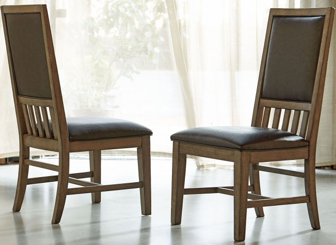 Metalworks Factory Chic Upholstered Back Side Chair Set of 2