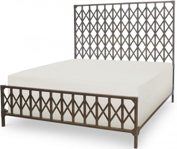 Metalworks Factory Chic King Metal Panel Bed