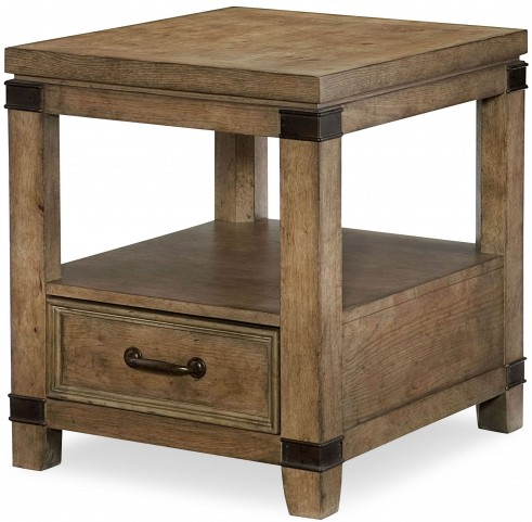 Metalworks Factory Chic 1 Drawer End Table
