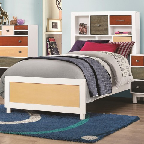 Lemoore Multi-Color Twin Bookcase Bed