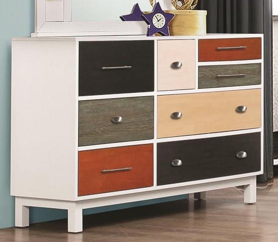 Lemoore Multi-Color 8 Drawer Dresser