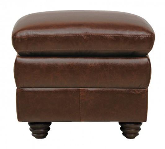 Levi Italian Leather Storage Ottoman
