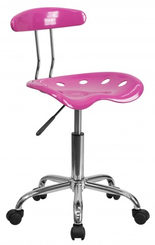 Candy Heart and Chrome Computer Task Chair