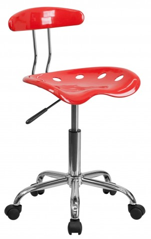 Cherry Tomato and Chrome Computer Task Chair