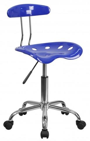 Nautical Blue and Chrome Computer Task Chair