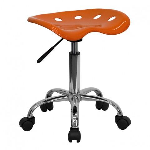 Vibrant Orange Tractor Seat Stool