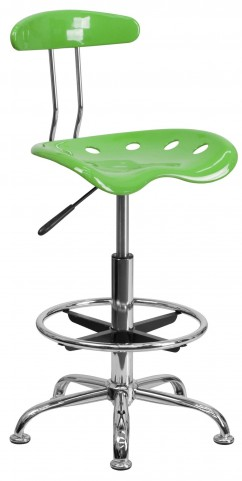 Vibrant Spicy Lime Drafting Stool