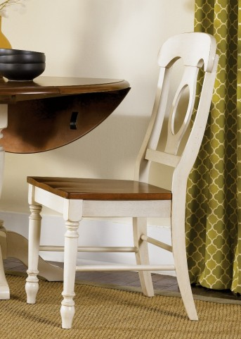Low Country Sand Napoleon Back Side Chair Set of 2