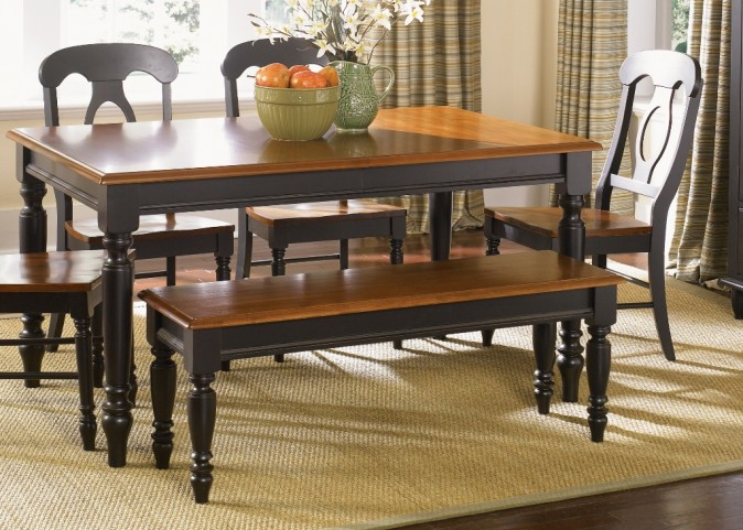 Low Country Black Bench