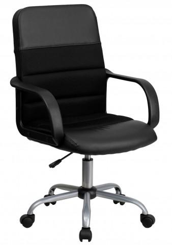 Mid-Back Black & Chair