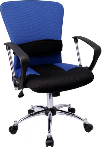 Mid-Back Blue Office Chair