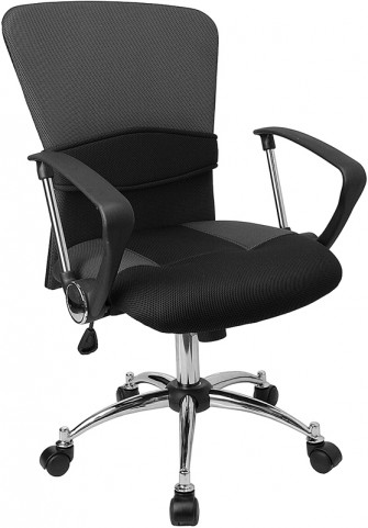 Mid-Back Gray Office Chair