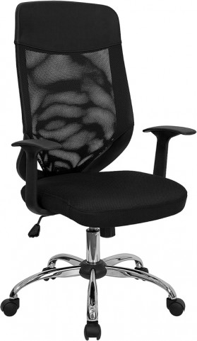 High Back Office Chair with Fabric Seat